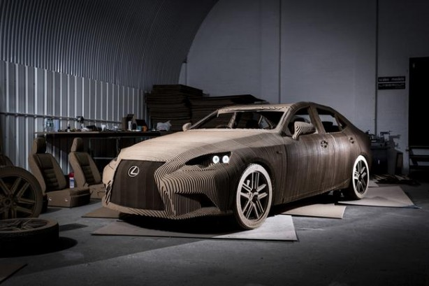 Lexus IS Carboard Origami Edition