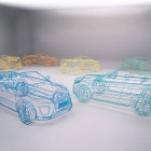 Range Rover Evoque Convertible wireframe sculptures-6