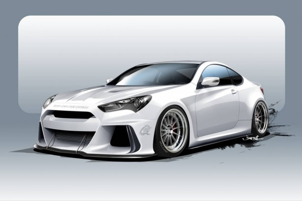 SEMA ARK Solus Genesis Coupe sketch