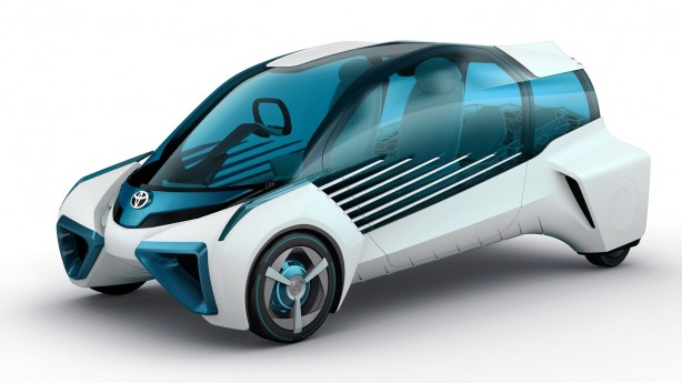Toyota Mirai fuel-cell car (overseas model shown)