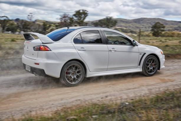 2015 Mitsubishi Lancer Evolution Final Edition rear quarter