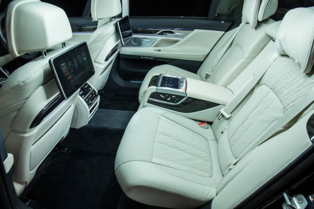 2016 BMW 740Li rear seats