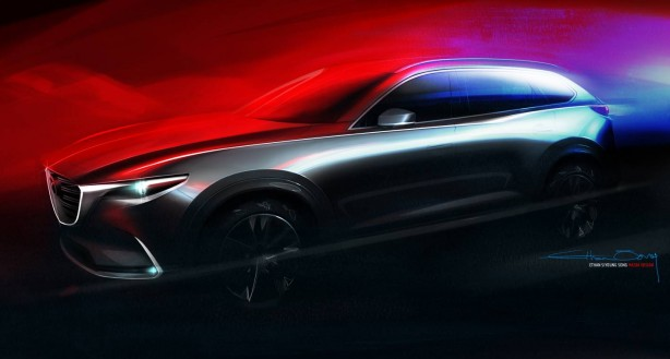 All-new Mazda CX-9 sketch