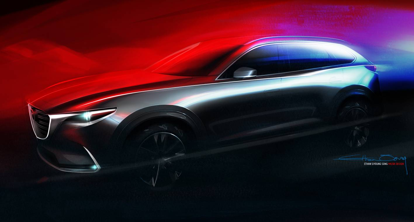 all new mazda cx 9 to debut at los angeles auto show. Black Bedroom Furniture Sets. Home Design Ideas