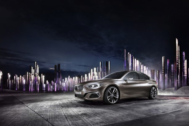 BMW Compact Sedan Concept front quarter-1