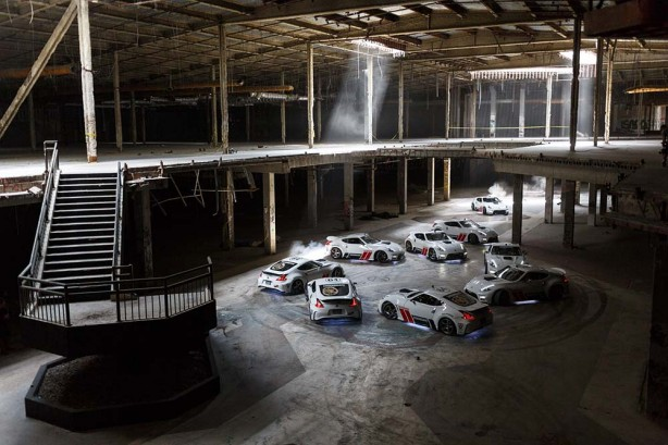 Nissan 370Z Drift Black Friday Chris Forsberg abandoned Mall 1000hp