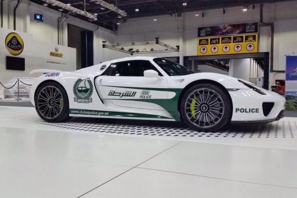 Porsche 918 Spyder Dubai Police side
