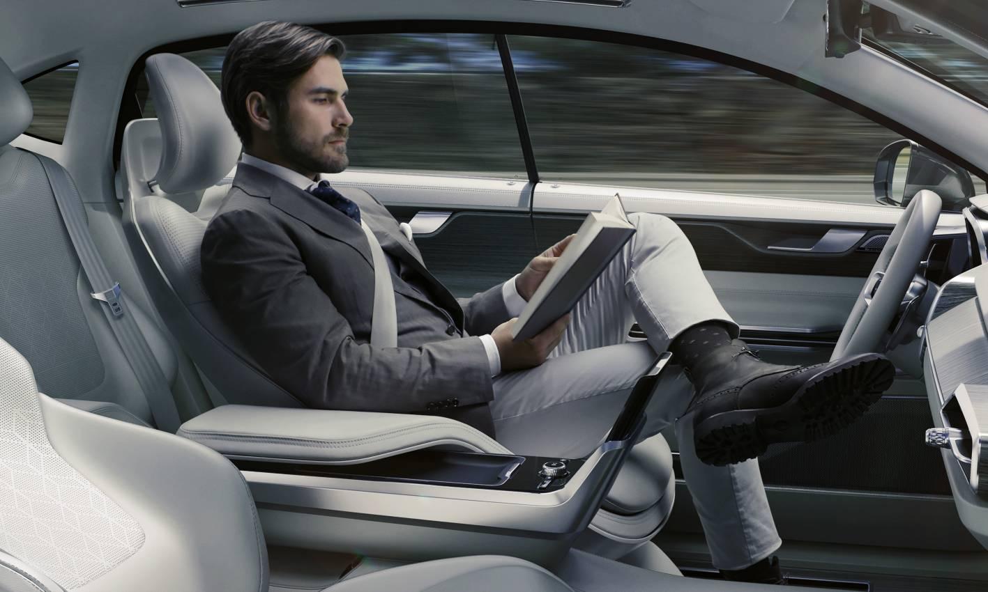 volvo previews future autonomous cockpit with concept 26. Black Bedroom Furniture Sets. Home Design Ideas
