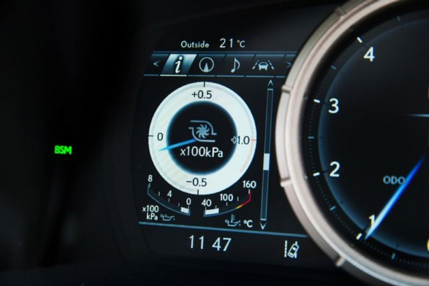 2015 Lexus GS 200t F Sport instruments
