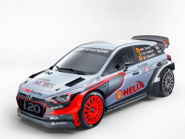 2016 Hyundai i20 WRC front quarter