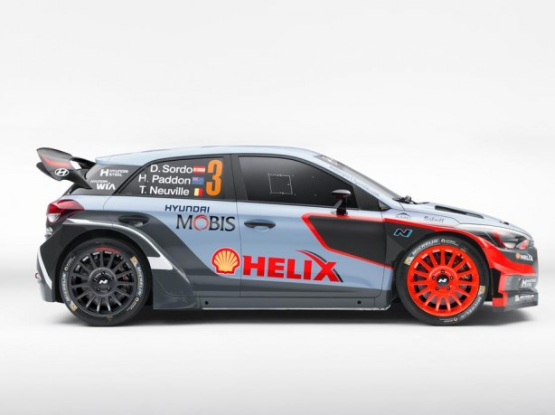 2016 Hyundai i20 WRC side