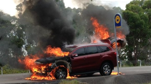 Ford everest on fire