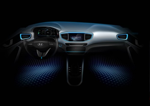 Hyundai IONIQ sketch interior