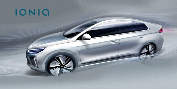 Hyundai IONIQ sketch side