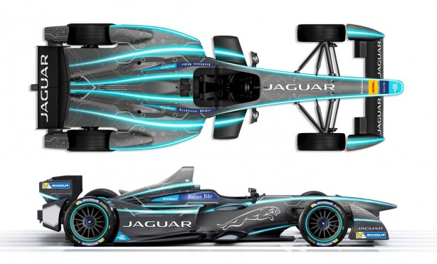 Jaguar Formula E racer side