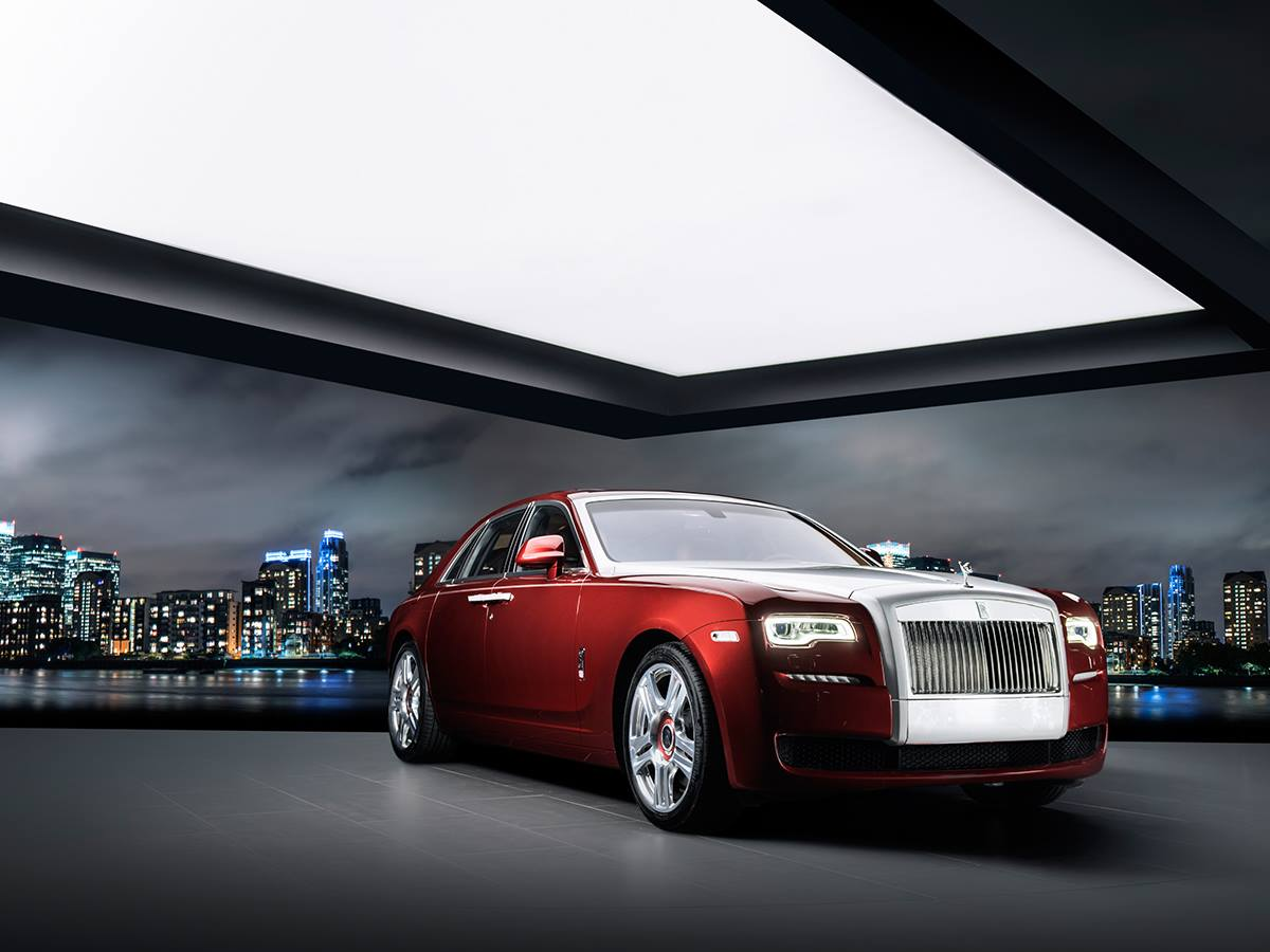 rolls royce ghost red diamond is inlaid with 41 diamonds. Black Bedroom Furniture Sets. Home Design Ideas