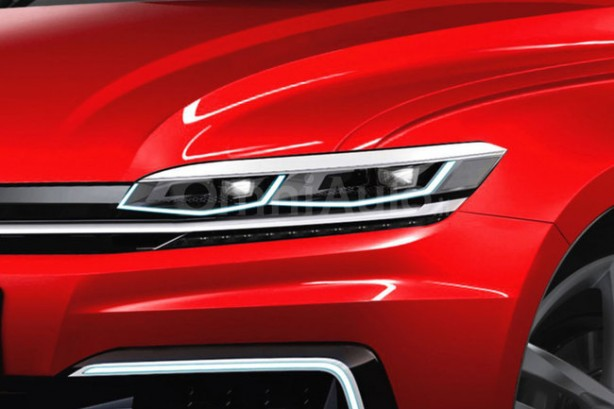 2017 Volkswagen Golf rendering headlight