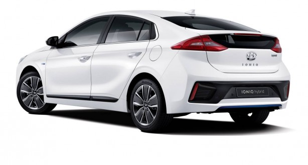 Hyundai IONIQ rear quarter