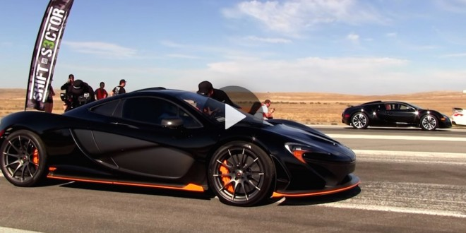 Epic drag race: Bugatti Veyron vs McLaren P1 [video]