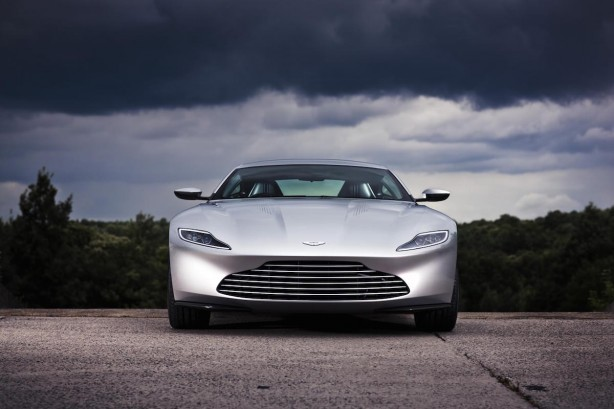 james bond's aston martin db10 front