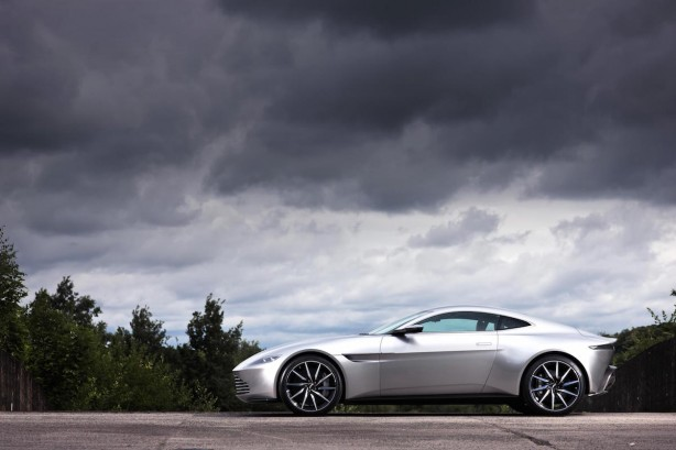 james bond's aston martin db10 side