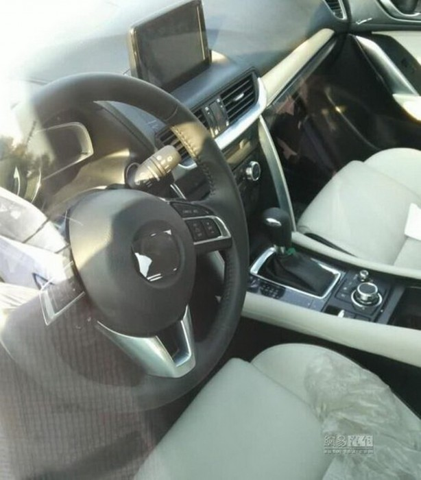 mazda cx-4, cx-6 interior spy photo