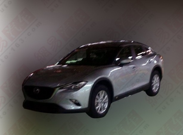 mazda cx-4, cx-6 spy photo front quarter