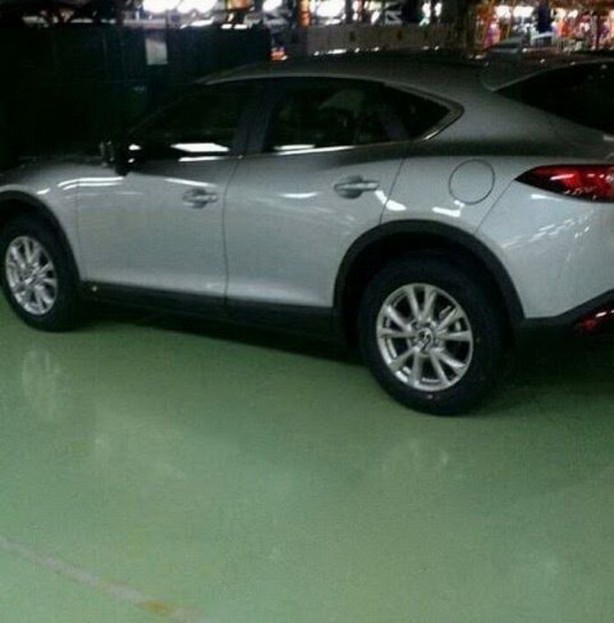mazda cx-4, cx-6 spy photo rear quarter