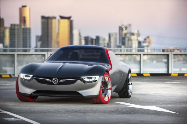 opel:vauxhall gt concept front