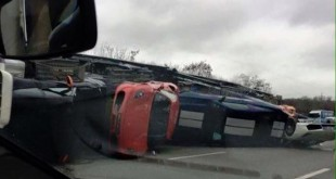 exotic cars damaged in truck crash near paris