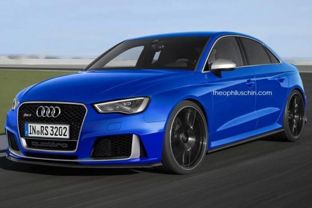 forcegt audi rs3 sedan render front quarter