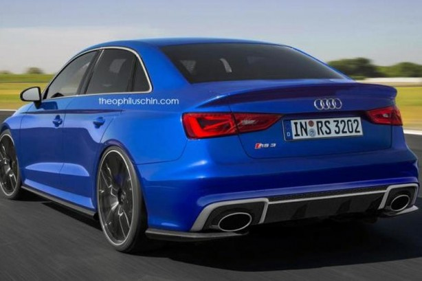 forcegt audi rs3 sedan render rear quarter