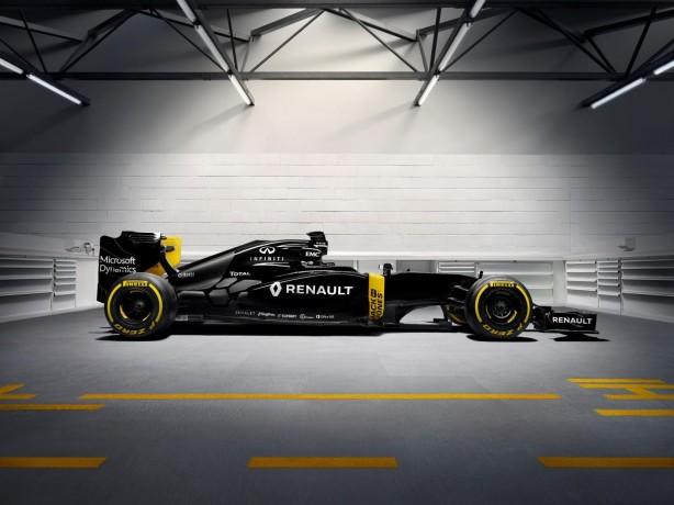 renault f1 re16 - side