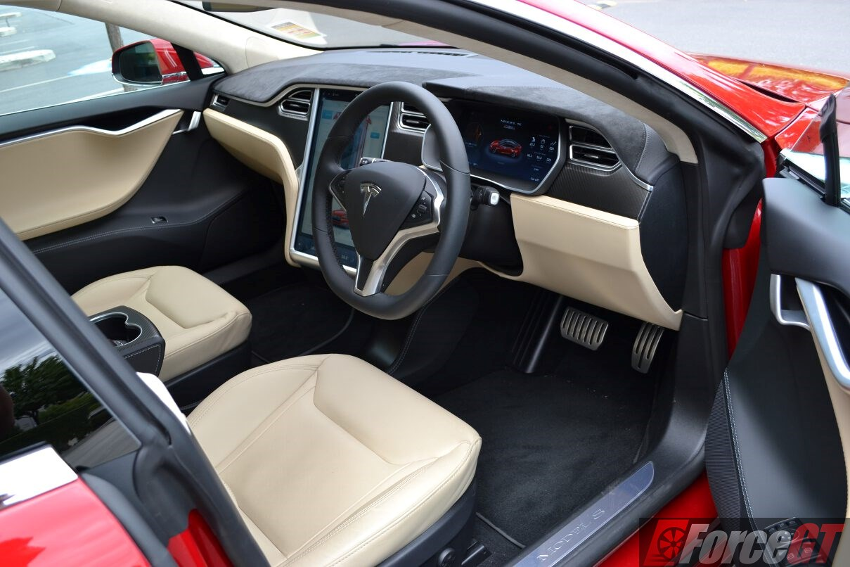2016 tesla model s p90d interior for Interior tesla model s