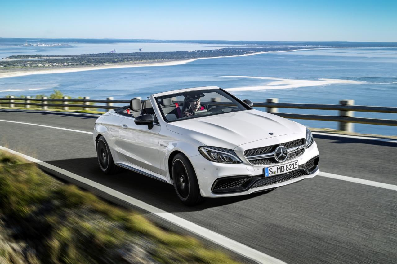2017 mercedes amg c63 cabriolet brings v8 to open top for Mercedes benz v8 amg