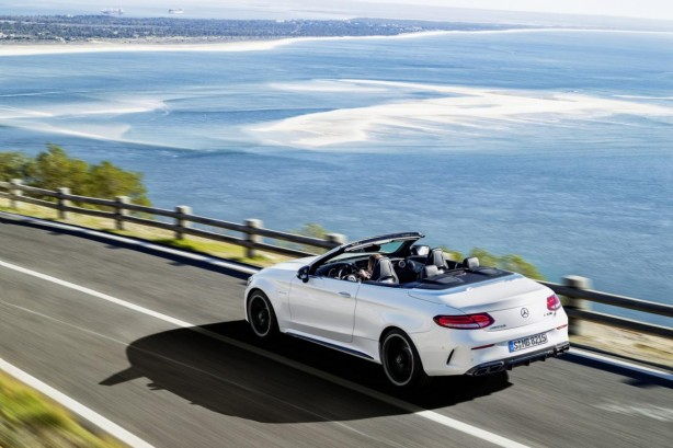 2017 mercedes-amg c63 cabriolet rear quarter-1