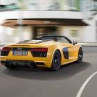 audi-r8-spyder-v10-driving-roof-down-rear