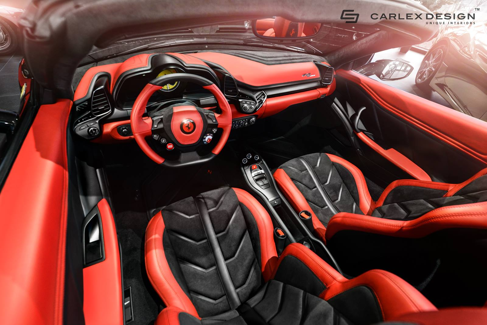 Ferrari 458 Spider Gets Stunning New Interior From Carlex Design