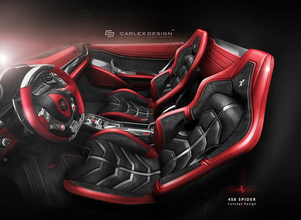 ferrari 458 spider gets stunning new interior from carlex