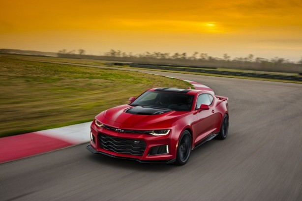 The 2017 Camaro ZL1 is poised to challenge the most advanced sports coupes in the world in any measure – with unprecedented levels of technology, refinement, track capability and straight-line acceleration. A cohesive suite of performance technologies tailors ZL1's performance, featuring an updated Magnetic Ride suspension, Performance Traction Management, electronic limited-slip differential, Custom Launch Control and Driver Mode Selector. With a stronger power-to-weight ratio than its predecessor, it weighs 200 pounds less, and offers approximately 60 more horsepower and 80 more pound-feet of torque.