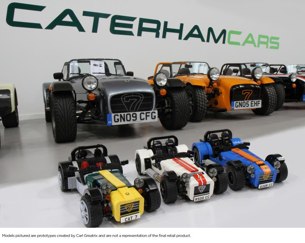 lego to produce caterham seven set arriving late 2016. Black Bedroom Furniture Sets. Home Design Ideas