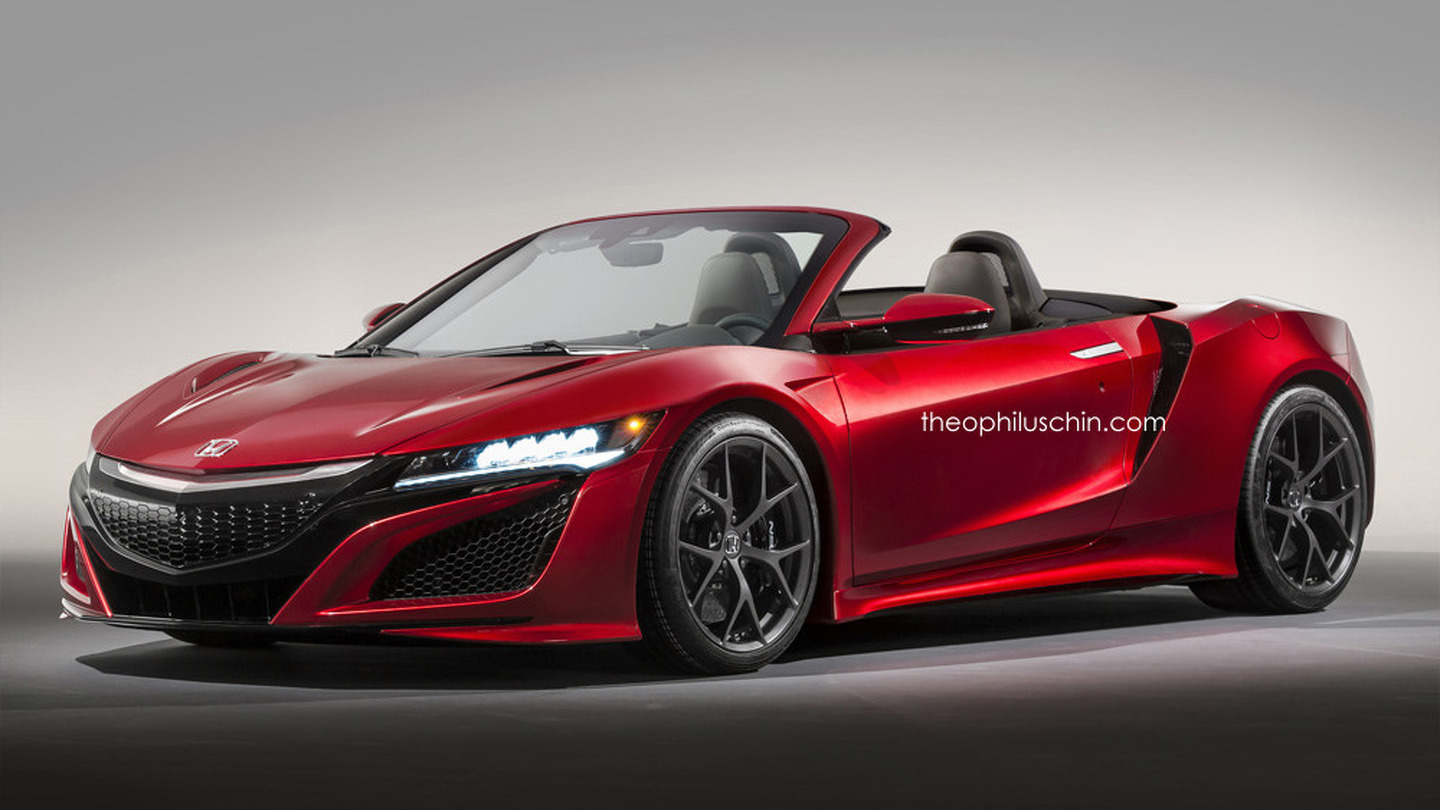 Honda NSX convertible gets rendered - ForceGT.com