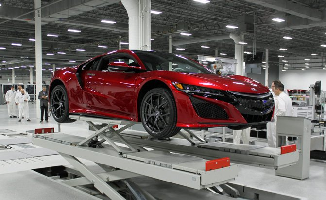 First Honda Nsx Rolls Off Production Line Forcegt Com