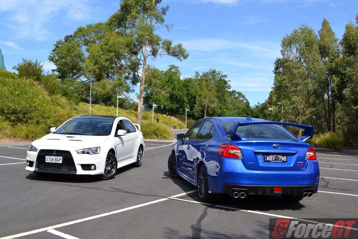 Head to Head Subaru WRX STI vs Mitsubishi Lancer Evo X Final Edition