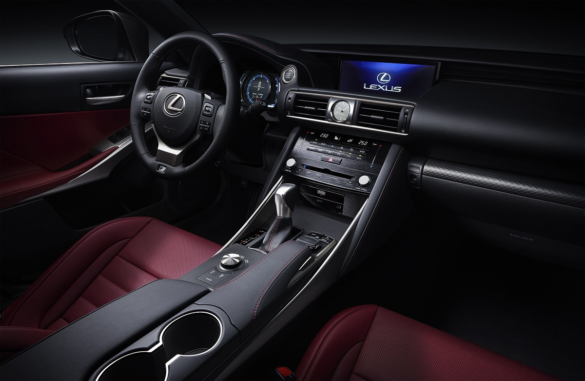 2017 lexus is f sport facelift interior