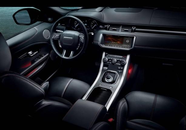 2017 range rover evoque ember edition dashboard