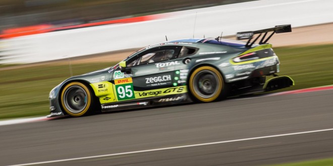 Double podium finish for Aston Martin at Silverstone raceway
