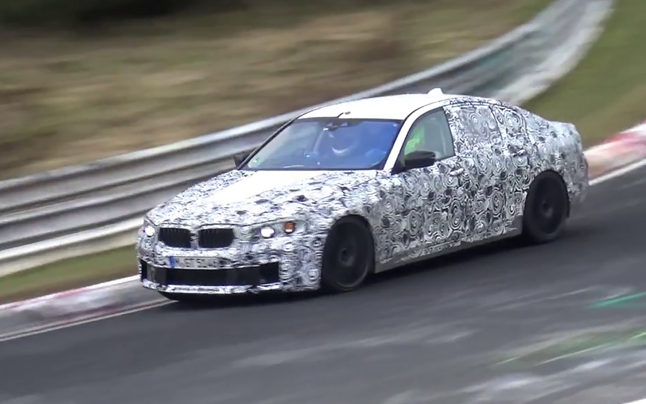 2018 BMW M5 F90 spied at Nurburgring. Could it be AWD?