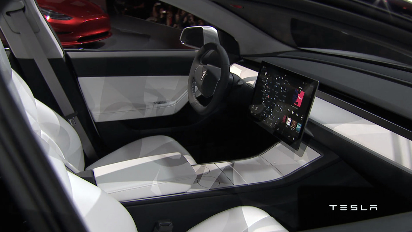 forcegt tesla model 3 interior