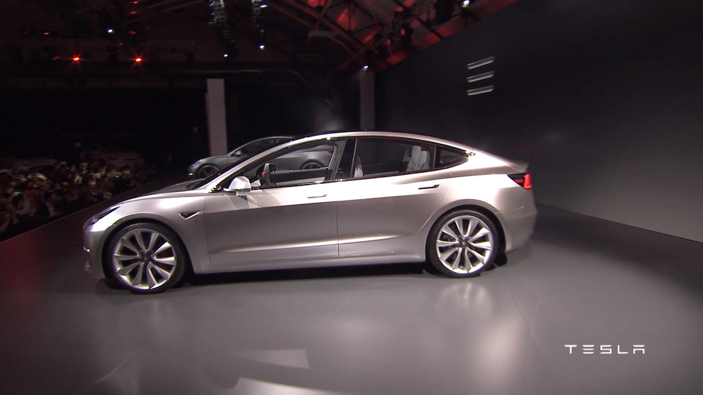 Cool Tesla39s Affordable Model 3 Electric Car Officially Unveiled